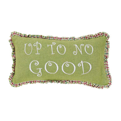 Ashton And Willow Whimsical Christmas Pillows - No Good 7x13 Lumbar Pillow