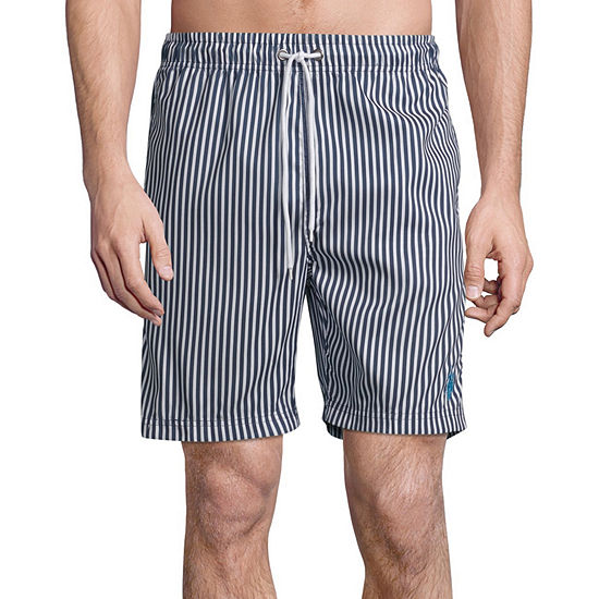 Us Polo Assn. Striped Swim Trunks