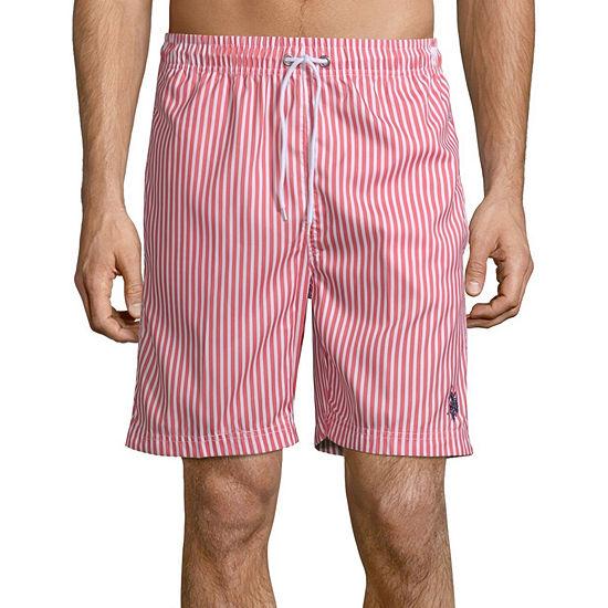 Us Polo Assn. Striped Swim Trunks