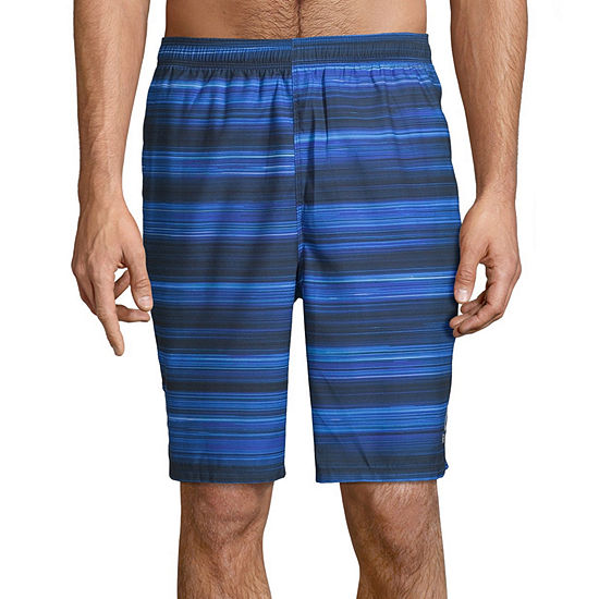 Reebok Striped Swim Trunks