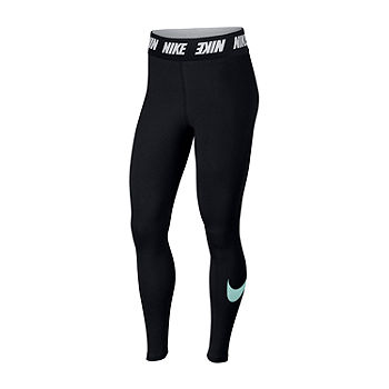 Nike High Waist Club Leggings Color Blk Teal Jcpenney