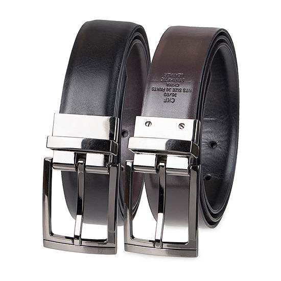 Collection by Michael Strahan Reversible Men's Dress Belt with Metal Loop