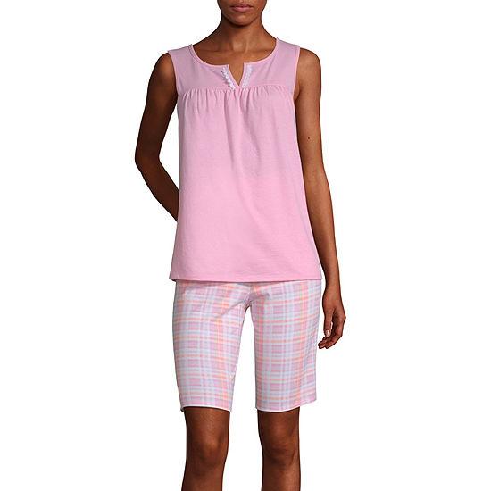 Adonna Womens Shorts Pajama Set 2-pc. Sleeveless