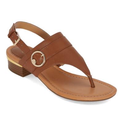 Liz Claiborne Womens Turf Heeled Sandals