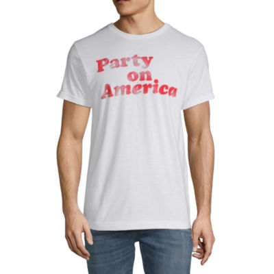 4th Of July Mens Crew Neck Short Sleeve Americana Graphic T-Shirt
