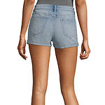 Arizona Womens Mid Rise Shortie Short-Juniors