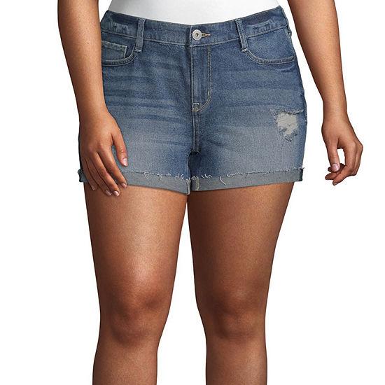 Arizona Womens Shortie Short-Juniors Plus
