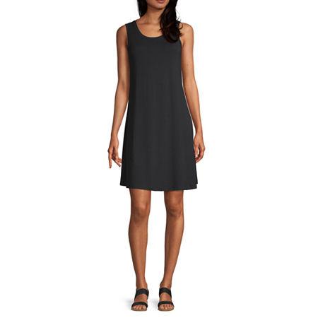 a.n.a Sleeveless Shift Dress, X-small , Black