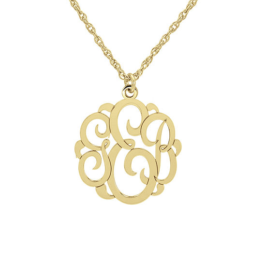 Personalized Womens 10K Gold Pendant Necklace