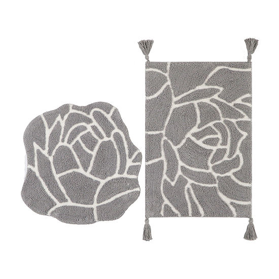 Riviera Home Floral Shape 2-pc. Bath Rug Set