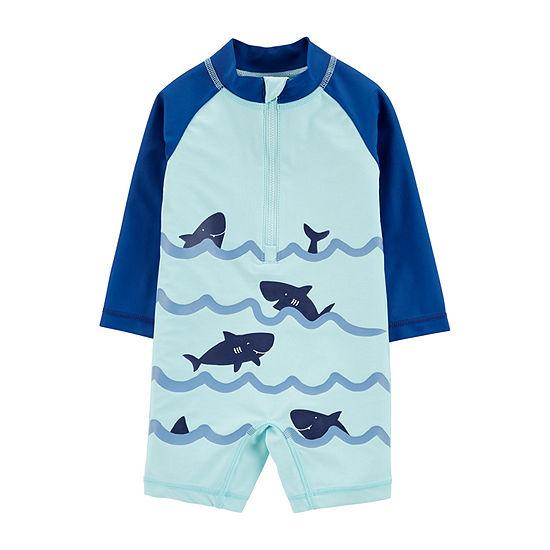 Carter's Baby Boys 1-Piece Sharks Rashguard