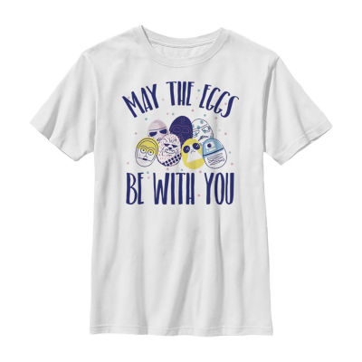 Easter May The Eggs Be With You Little /Big Kid Boys Short Sleeve Star Wars T-Shirt