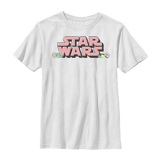 Easter Text Logo Little Kid / Big Kid Boys Short Sleeve Star Wars T-Shirt