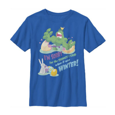 The Hulk I'm Sorry For What I Said In Winter Little/ Big Kid Boys Short Sleeve Marvel T-Shirt