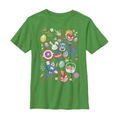 Easter Heroes Little /Big Kid Boys Short Sleeve Marvel T-Shirt