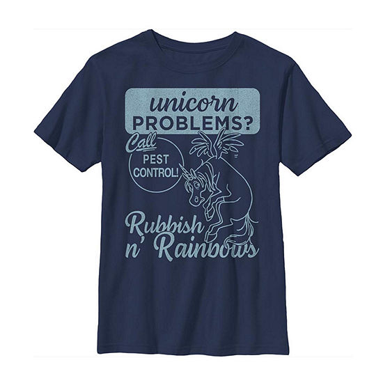 Disney Pixar Onward Unicorn Problems Little Kid / Big Kid Boys Short Sleeve T-Shirt
