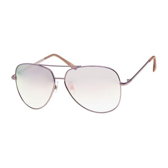Arizona Pink Aviator Womens Sunglasses