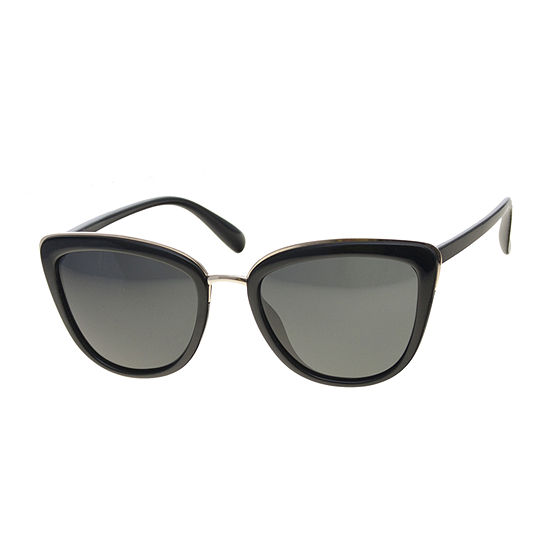 Foster Grant Cateye With Siny Gold Metal Detail Womens Sunglasses