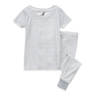 Jaclyn True Stripe Family Sleep Toddler Unisex 2-pc. Pajama Set