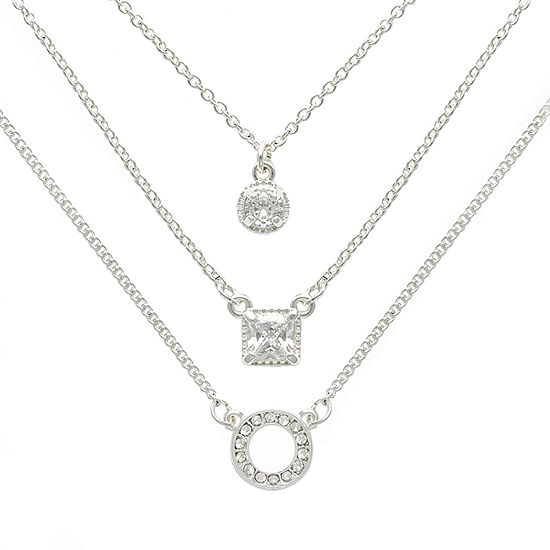 Mixit Hypoallergenic 3-pc. 18 Inch Box Strand Necklace