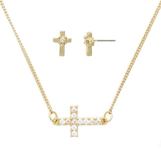 Mixit Religious Jewelry Hypoallergenic 2-pc. Cross Jewelry Set
