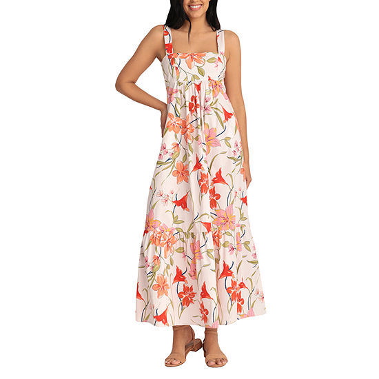 Clover And Sloane Sleeveless Floral Maxi Dress