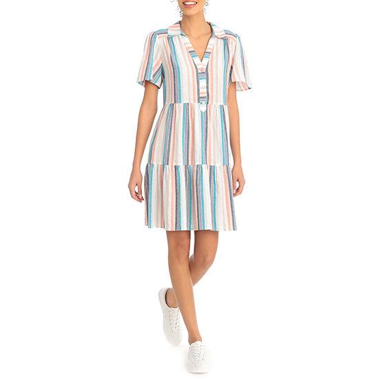 Clover And Sloane Short Sleeve Babydoll Dress