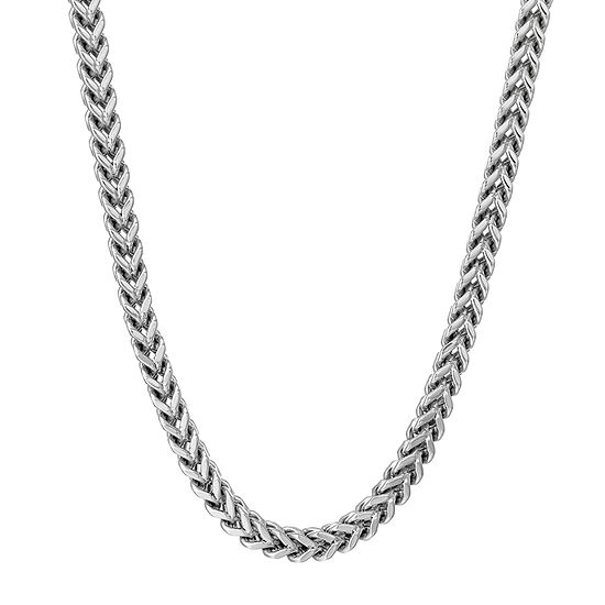 """Mens Stainless Steel 24"""" 4mm Foxtail Chain"""