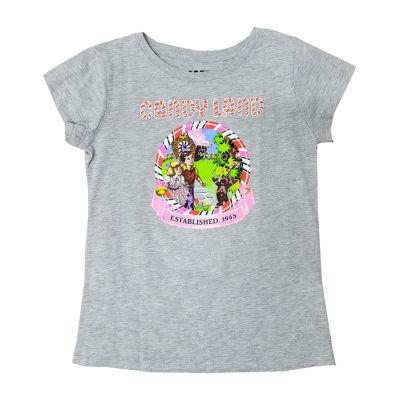 Candy Land Little & Big Girls Crew Neck Short Sleeve Graphic T-Shirt