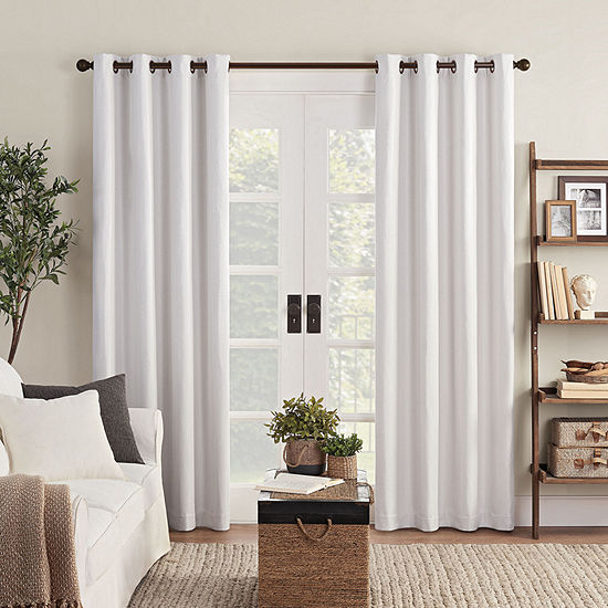 Eclipse Ambiance Shimmer Draft Stopper Energy Saving 100% Blackout Grommet-Top Single Curtain Panel