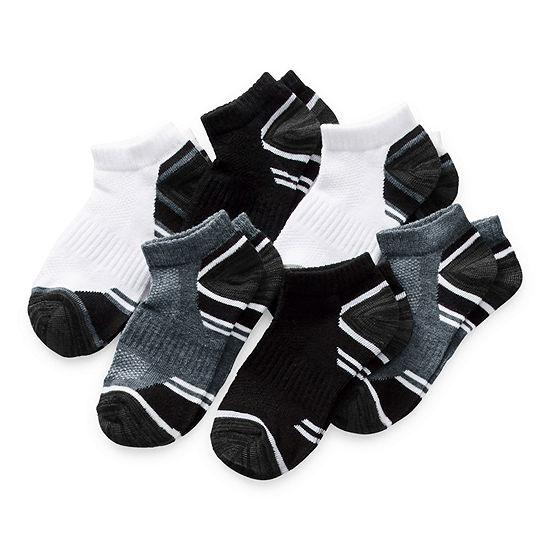 Xersion Little & Big Boys 6 Pair Low Cut Socks