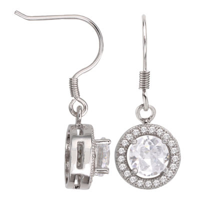 Sparkle Allure™ Round Cubic Zirconia Drop Earrings