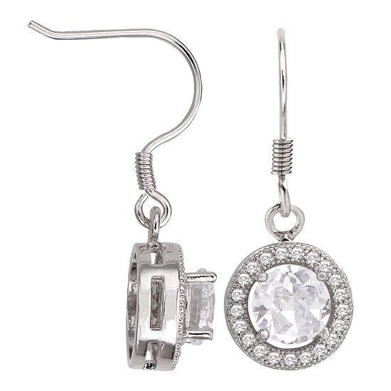 Sparkle Allure™ Round Cubic Zirconia Drop Earrings