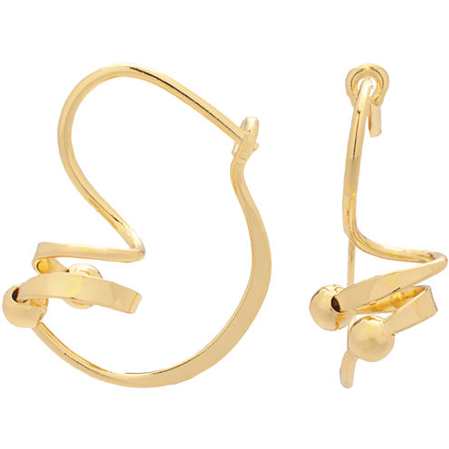 Corkscrew Bead Drop Earrings