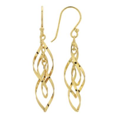 Triple-Twist Drop Earrings