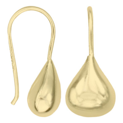 Silver Reflections™ Gold Over Brass Sculptural Teardrop Earrings