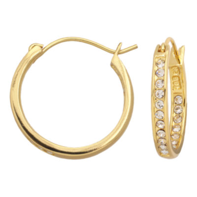 Inside-Out Crystal Accent Hoop Earrings