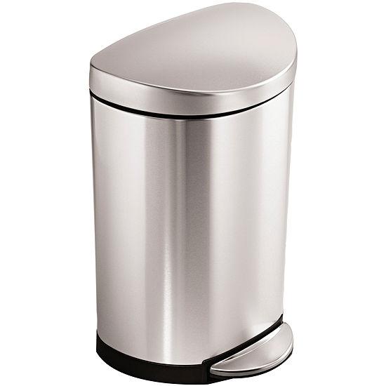 simplehuman® 10L Semi-Round Step Trash Can
