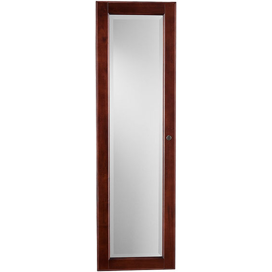 Declan Mirrored Wall Mounted Full Length Jewelry Armoire