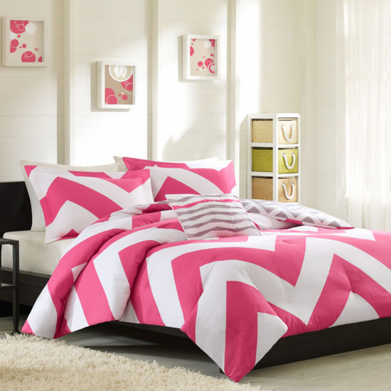 Virgo Reversible Chevron Comforter Set