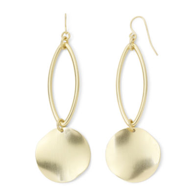 Bold Elements™ Gold-Tone Disc Drop Earrings