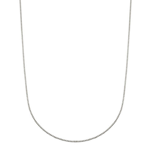 "Infinite Gold™ 14K White Gold 18"" Box Chain Necklace"