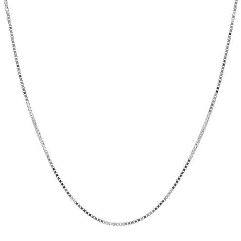 "Infinite Gold™ 14K White Gold 18"" Box Chain Necklace"