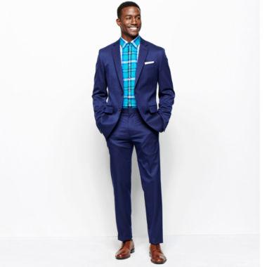jcpenney.com | JF J. Ferrar® Blue Stretch Gabardine Suit Separates or Plaid Shirt