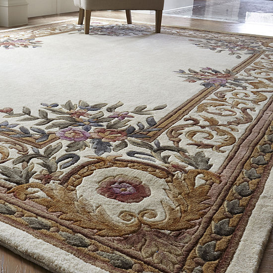 Momeni 174 Open Field Hand Carved Wool Rug Collection