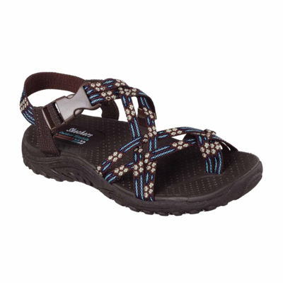 Skechers Reggae Loopy Womens Slip-On Shoes Buckle Open Toe