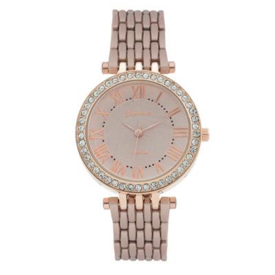 Geneva Platinum Womens Rose Goldtone Bracelet Watch-1533