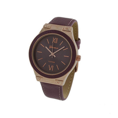 Geneva Platinum Womens Purple Strap Watch-10048