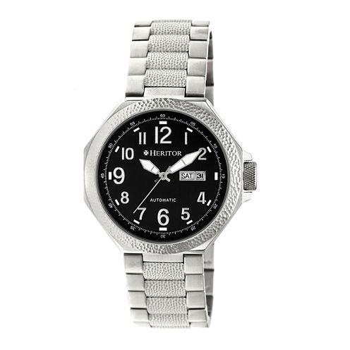 Heritor Spartacus Mens Silver Tone Bracelet Watch-Herhr5402
