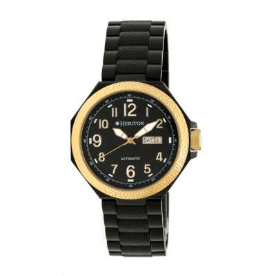 Heritor Spartacus Mens Black Bracelet Watch-Herhr5405